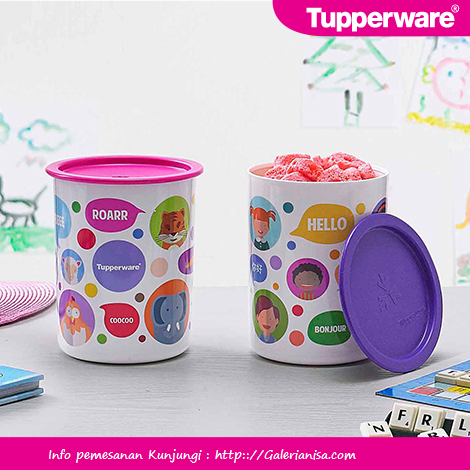 Bubble Canister Tupperware