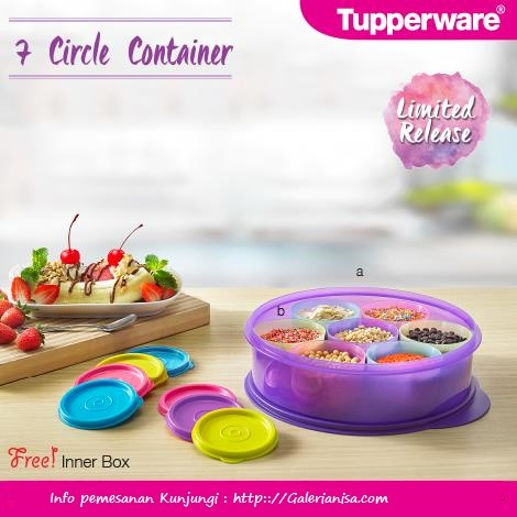 7 circle Container Tupperware