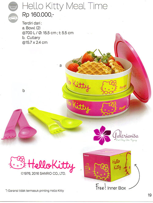 Hello Kitty Meal Time Tupperware