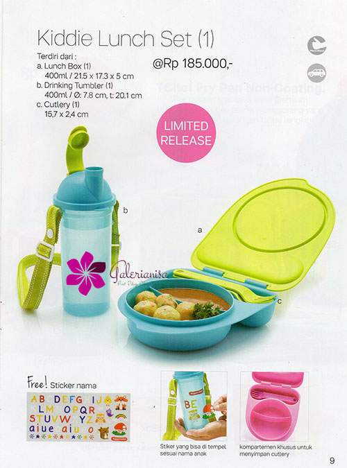 Kiddie Luch Set Tupperware