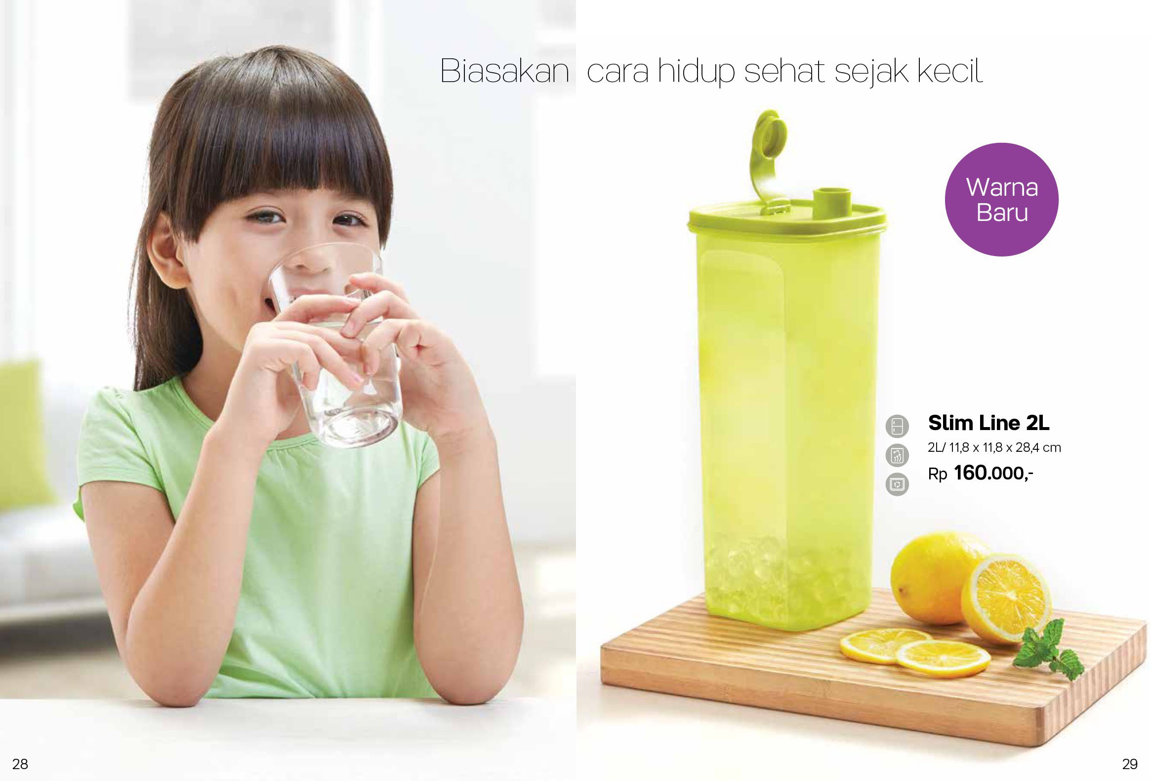 Slim Line 2L Tupperware