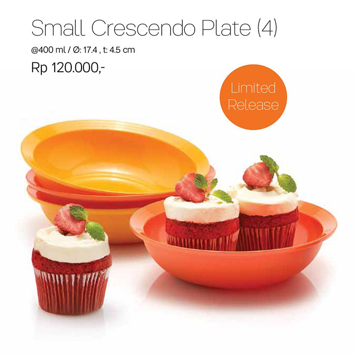 Small Crescendo Plate Tupperware