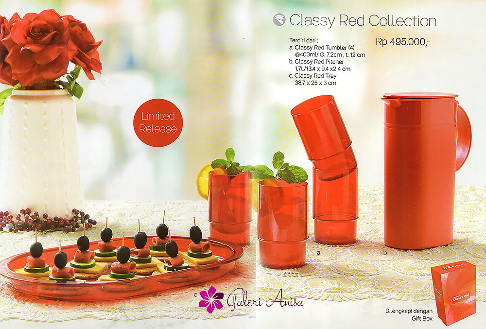 Classy Red Collection Tupperware