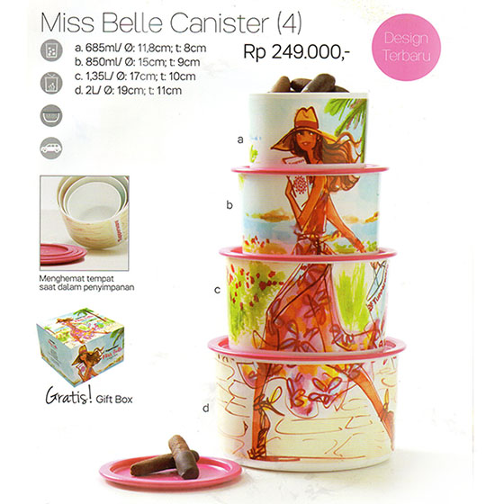 Miss Belle Canister 4 Tupperware