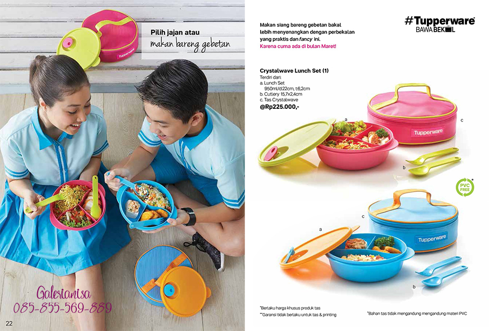 Crystalwave Lunch Set Tupperware