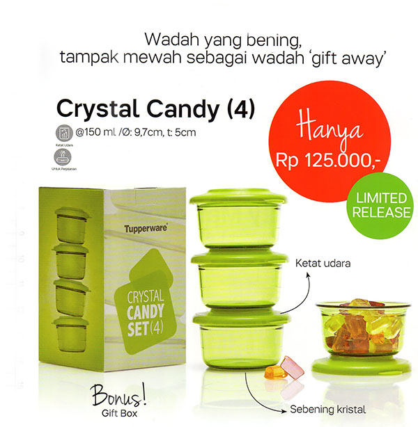 crystal candy tupperware