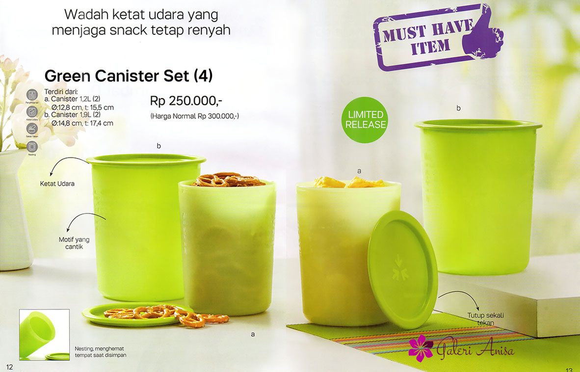 green canister set tupperware