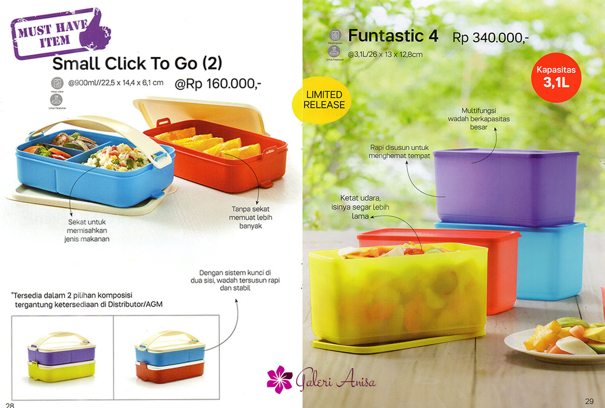 Small Click To Go Tupperware