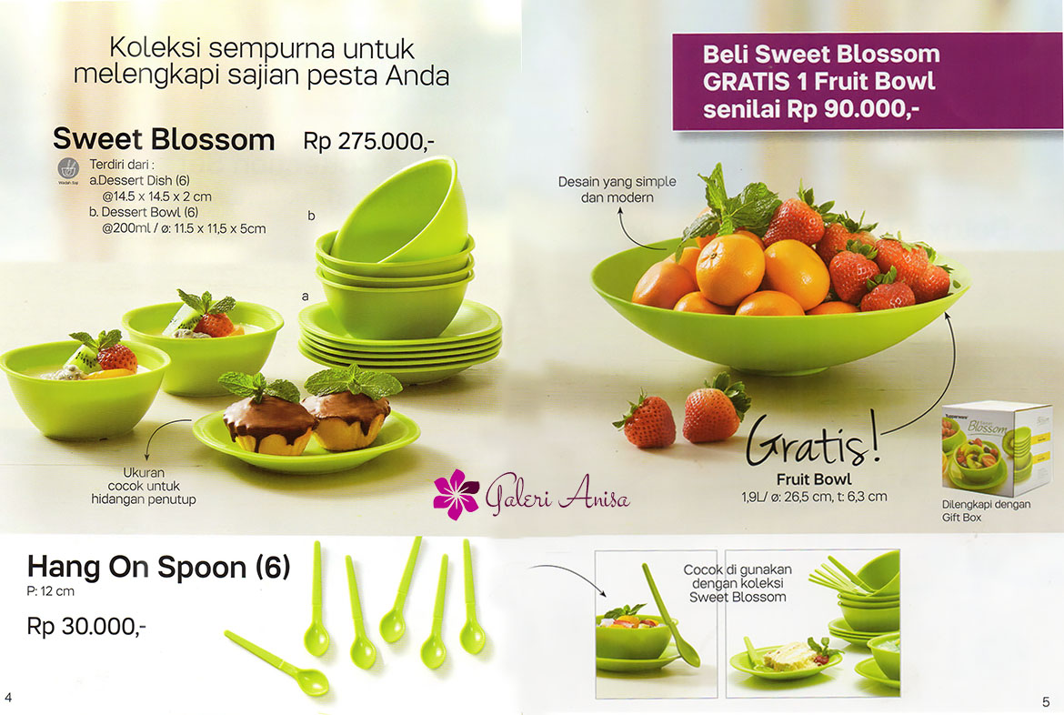 sweet blossom Tupperware Promo Januari 2017