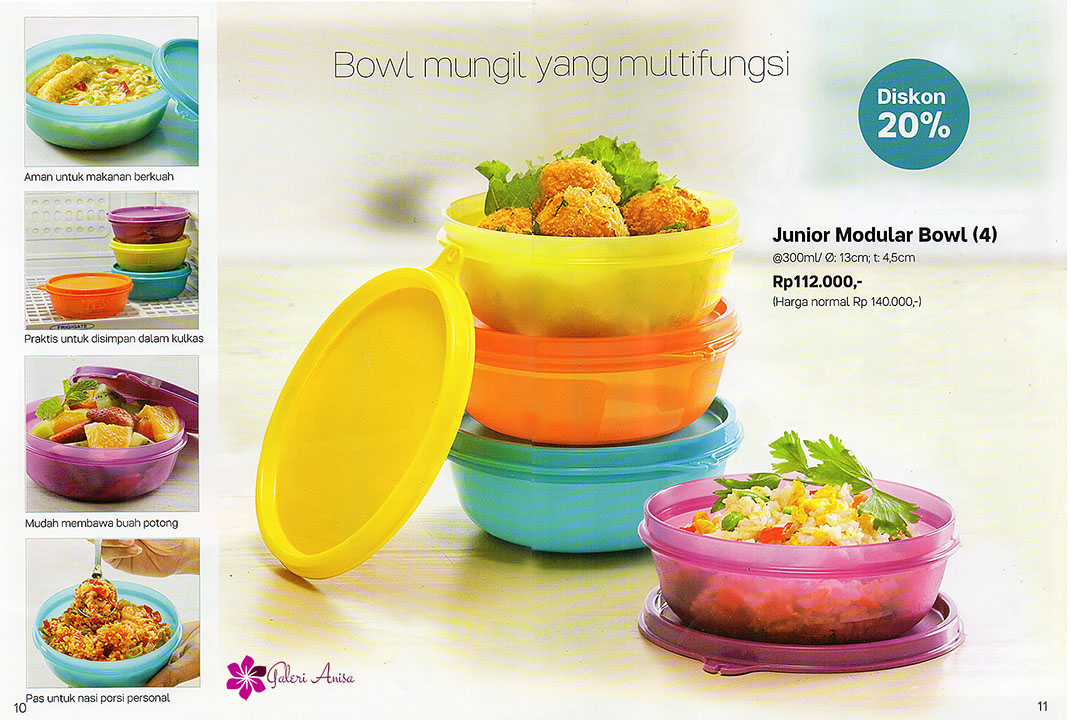 Junior Modular Bowl Tupperware Promo Juli 2017