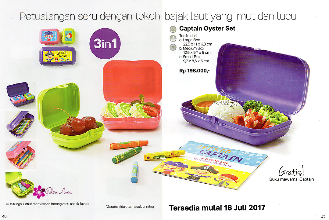 Captain Oyster Set Tupperware Juli 2017