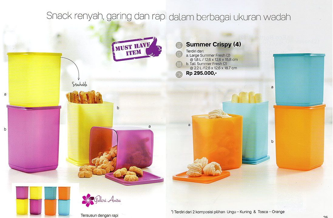 Summer Crispy Tupperware Promo Juli 2017