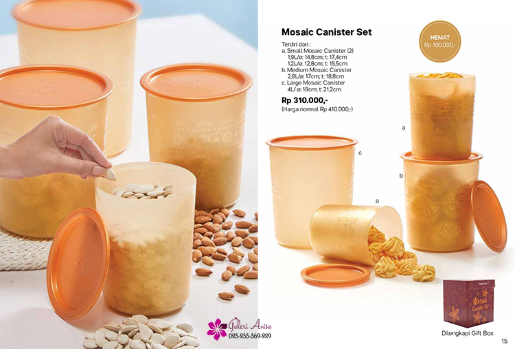 Mosaic Canister Set Tupperware