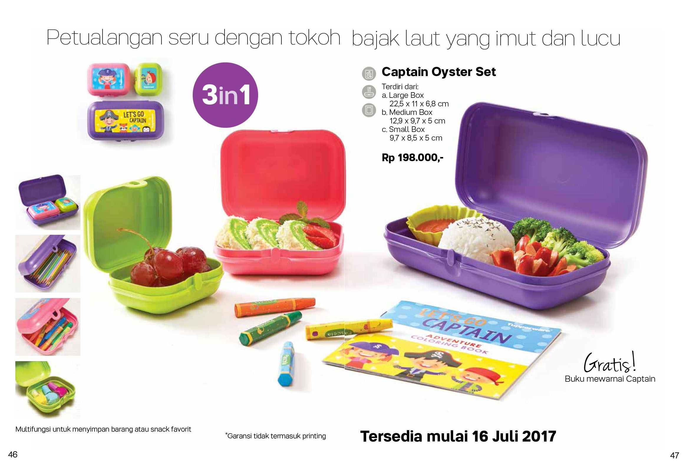 Captain Oyster Set Tupperware