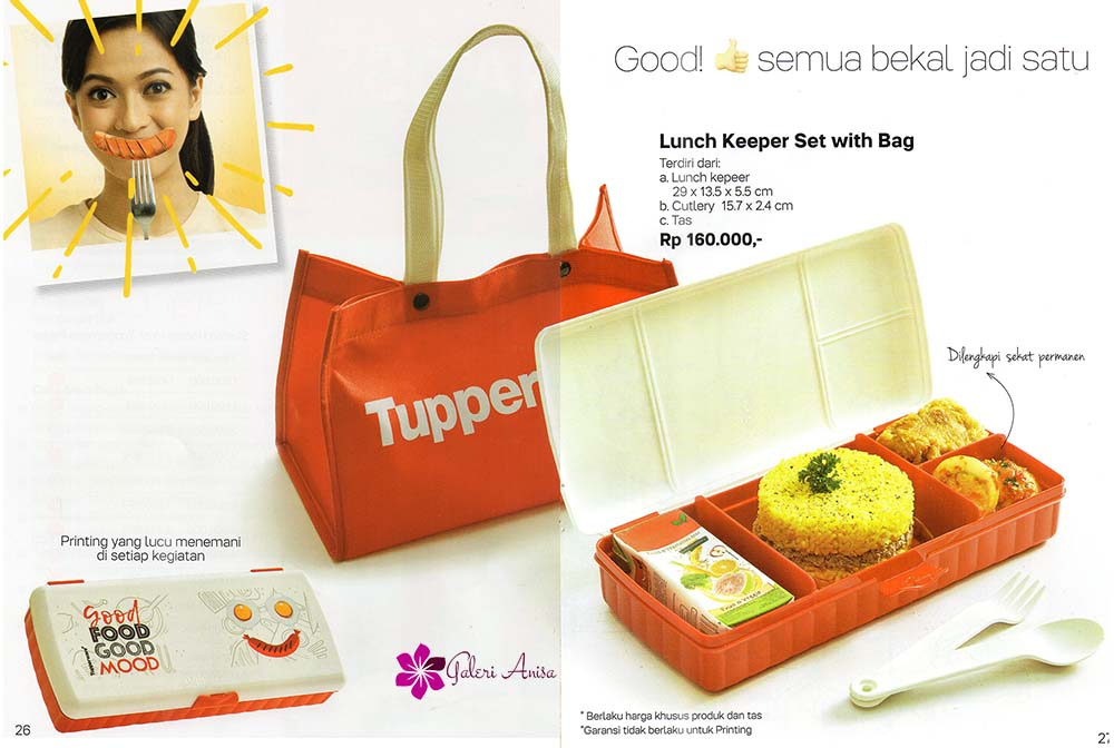 Lunch Keeper Set With Bag Tupperware Promo Agustus 2017