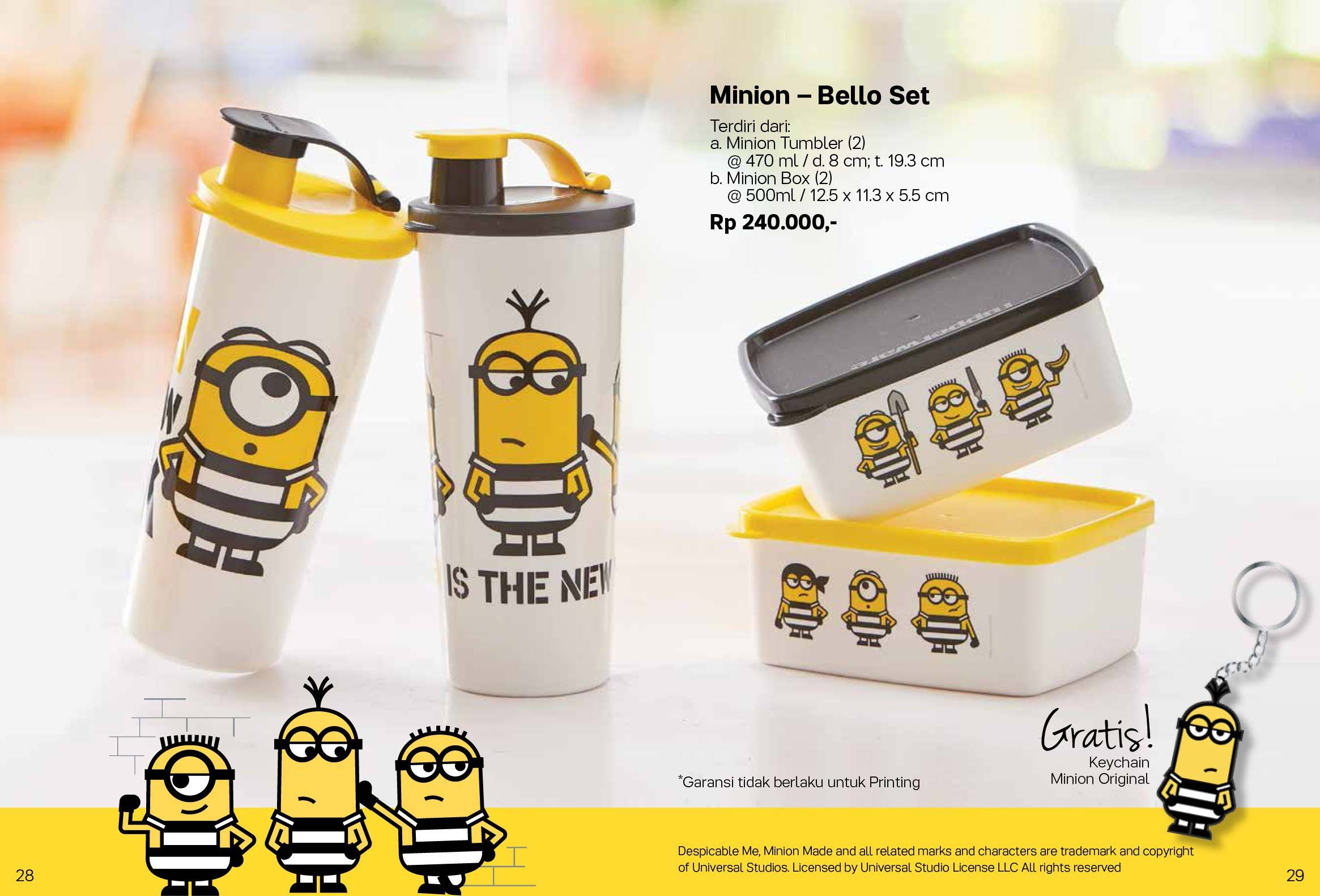 Minion Bello Set Tupperware