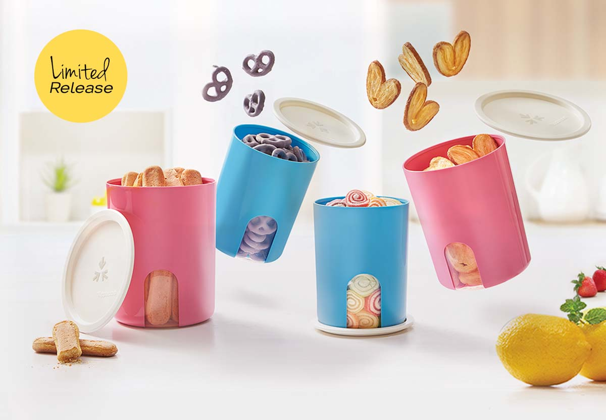 Snack Peek Canister Tupperware