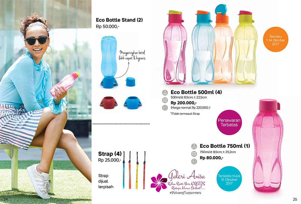 Eco Bottle Stand Tupperware Promo Oktober 2017