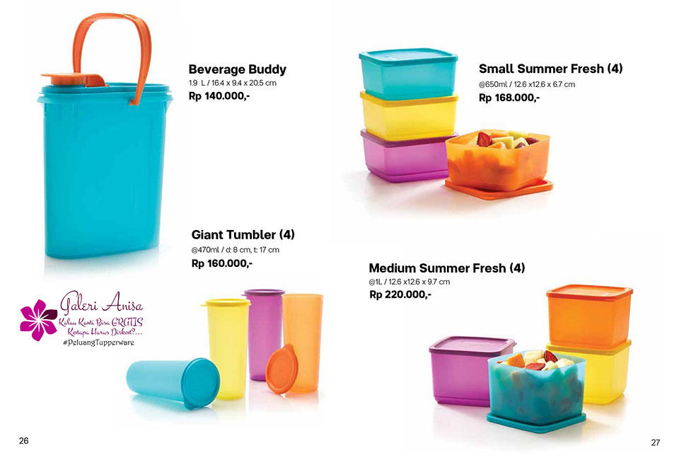 Small Summer Fresh Tupperware Promo Oktober 2017