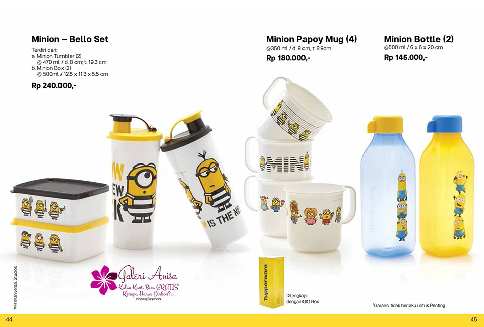 Minion Set Tupperware Promo Oktober 2017