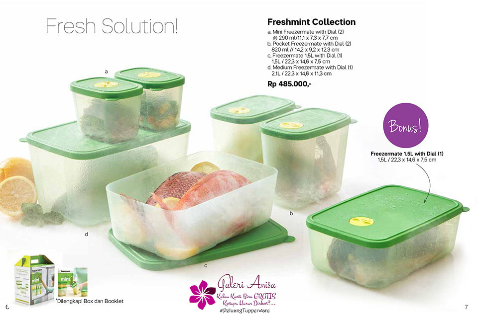 Freshmint Collection Tupperware Promo Oktober 2017