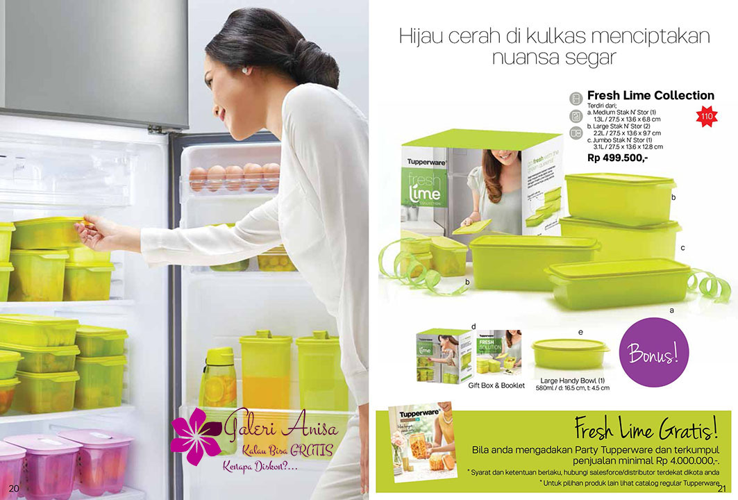 Fresh Lime Collection Tupperware Promo September 2017