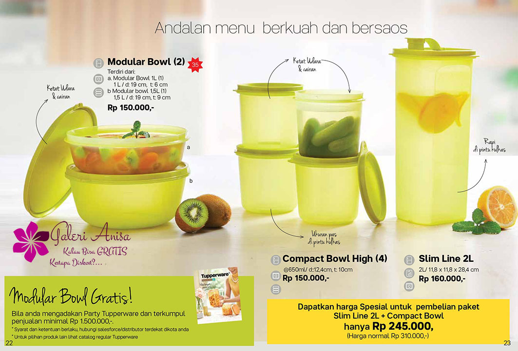 Modular Bowl Tupperware Promo September 2017