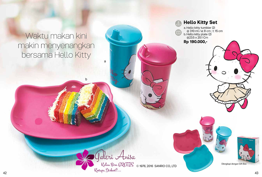 Hello Kitty Set Tupperware Promo September 2017
