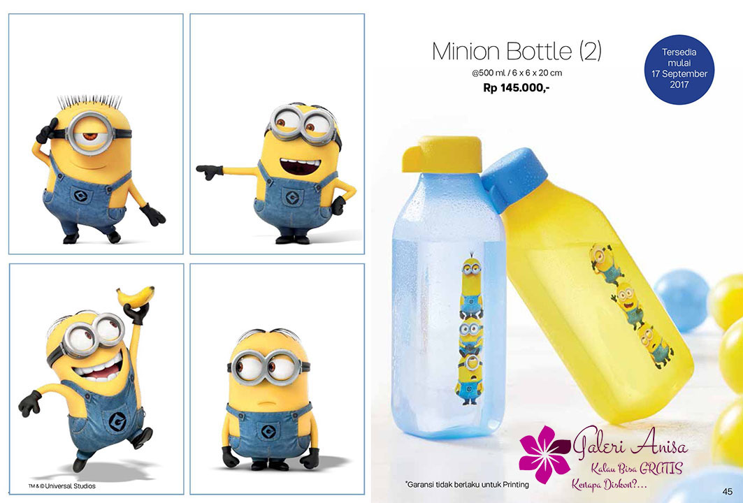 Minion Bottle Tupperware Promo September 2017