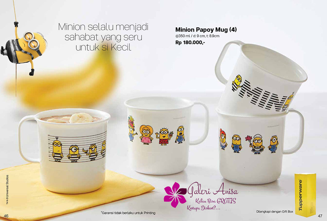 Minion Papoy Mug Tupperware Promo September 2017