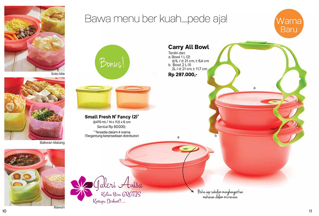 Carry All Bowl Tupperware Promo September 2017