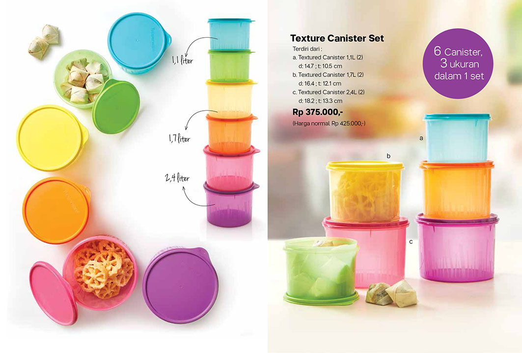 Texture Canister Set Tupperware