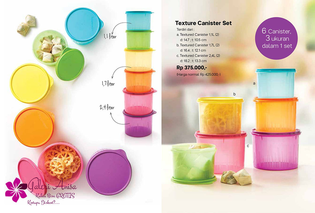 Texture Canister Set Tupperware Promo September 2017