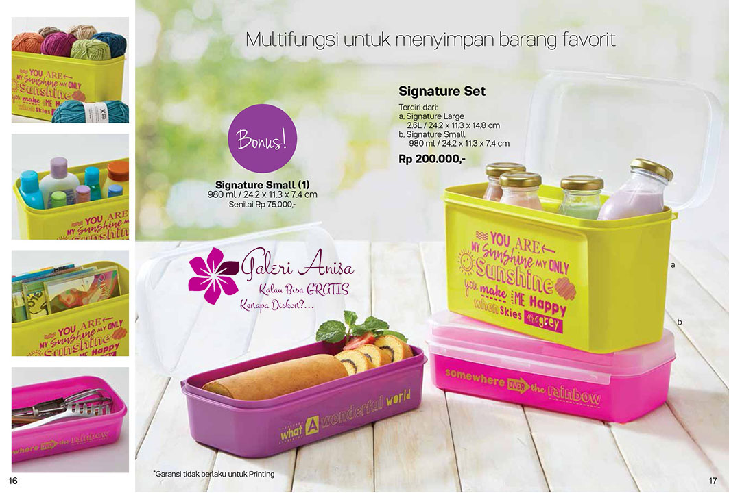 Signature Set Tupperware Promo September 2017