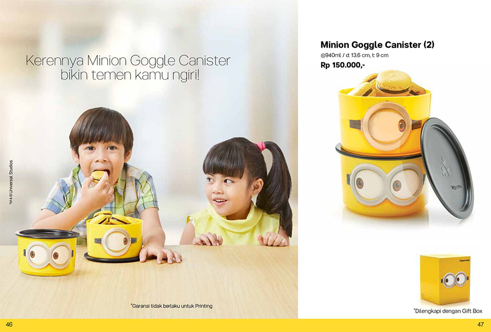 Minion Goggle Canister Tupperware