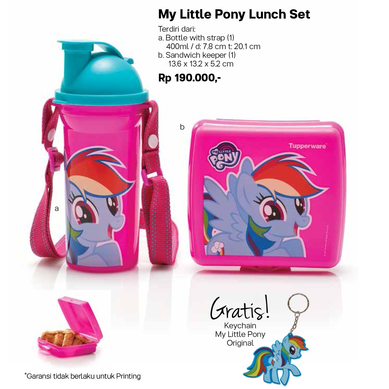 My LittlePony Lunch Set Tupperware