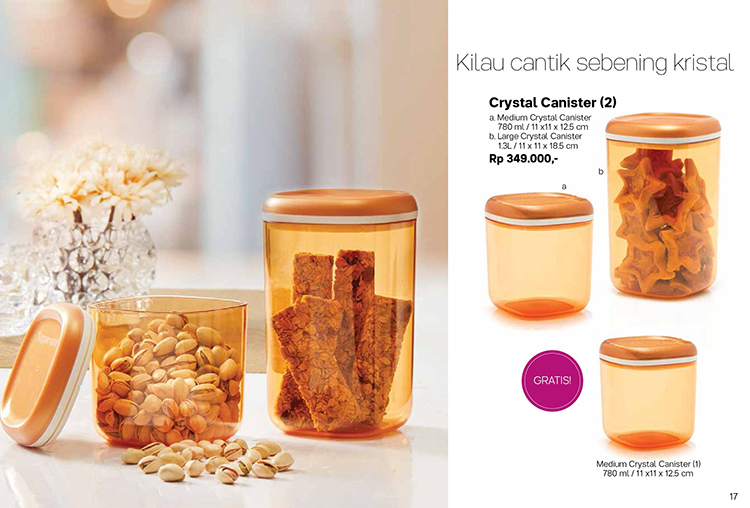 Crystal Canister Tupperware