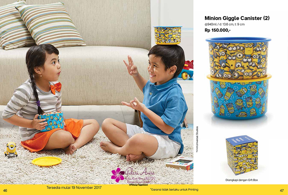 Minon Giggle Canister Tupperware