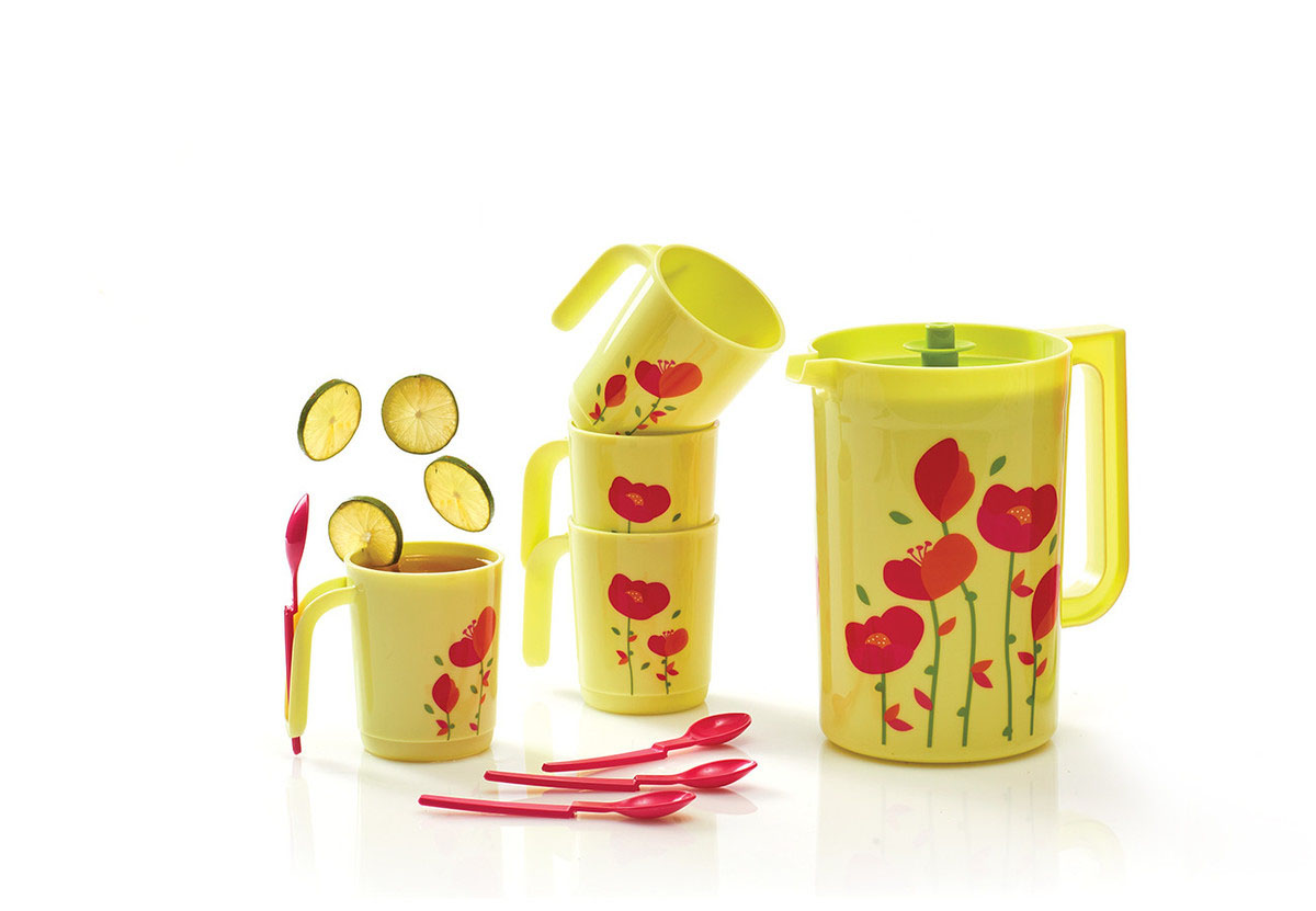 Flower Drink Set Tupperware