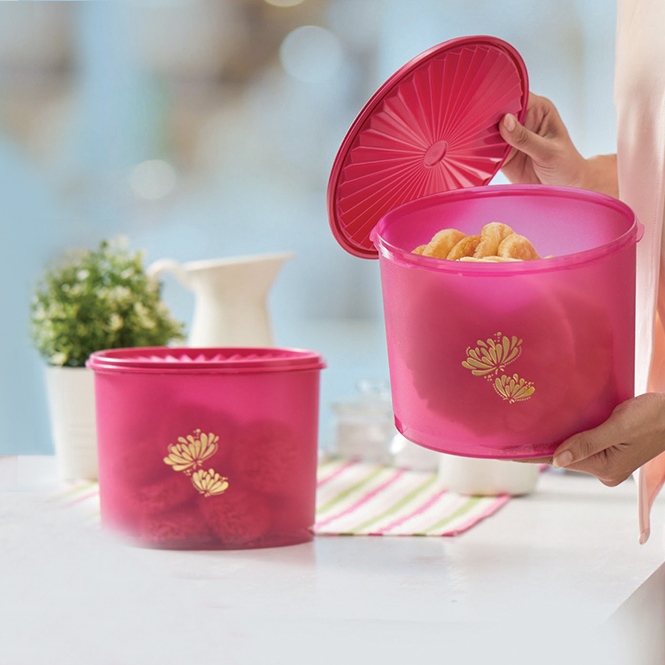 Lotus Super Deco (2) Tupperware
