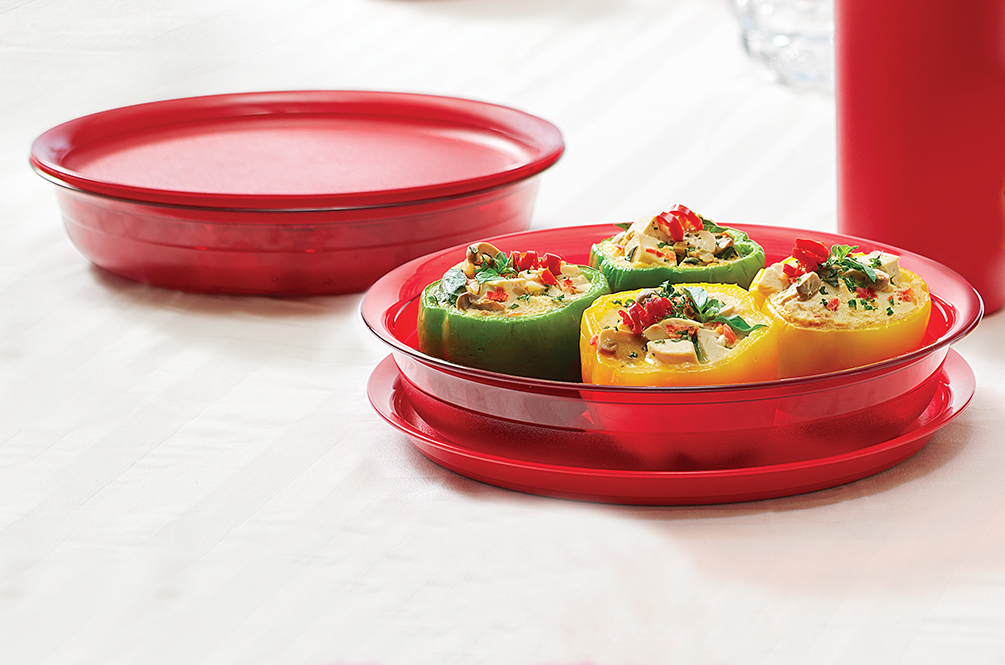Lucky Red Dish 1,3 L (2) Tupperware