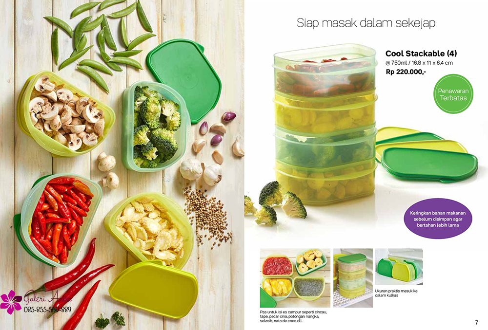 Cool Stackable Tupperware Promo Februari 2018