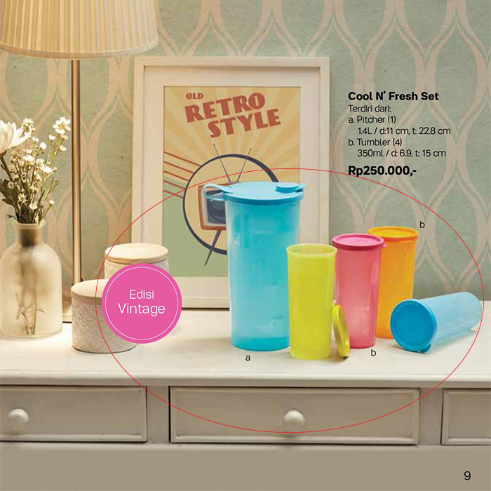 Cool N Fresh set Tupperware