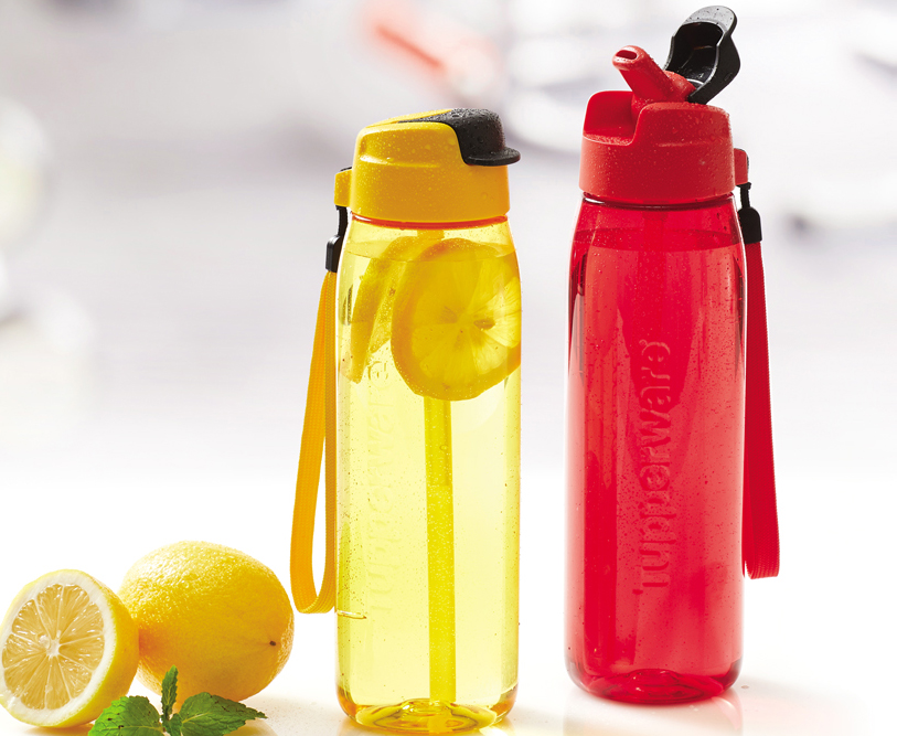 H2Go Bottle Yellow Tupperware