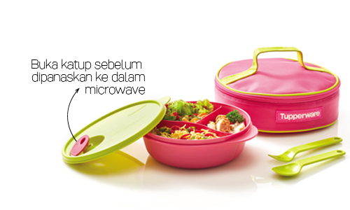 Crystalwave Lunch Set Girl Tupperware