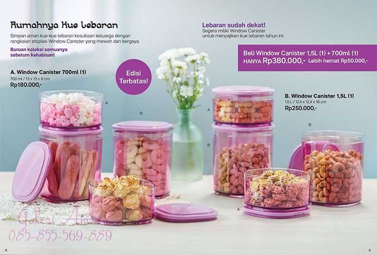 Window Canister 1,5L Tupperware
