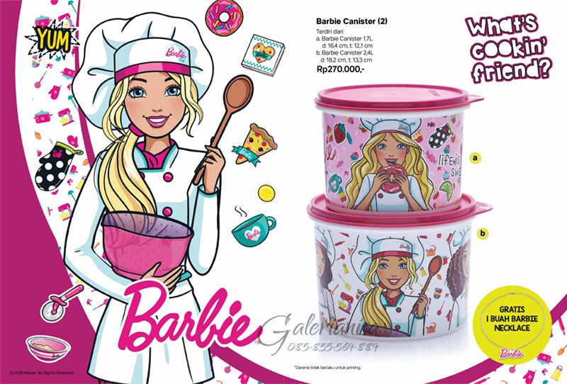 Barbie Canister Tupperware