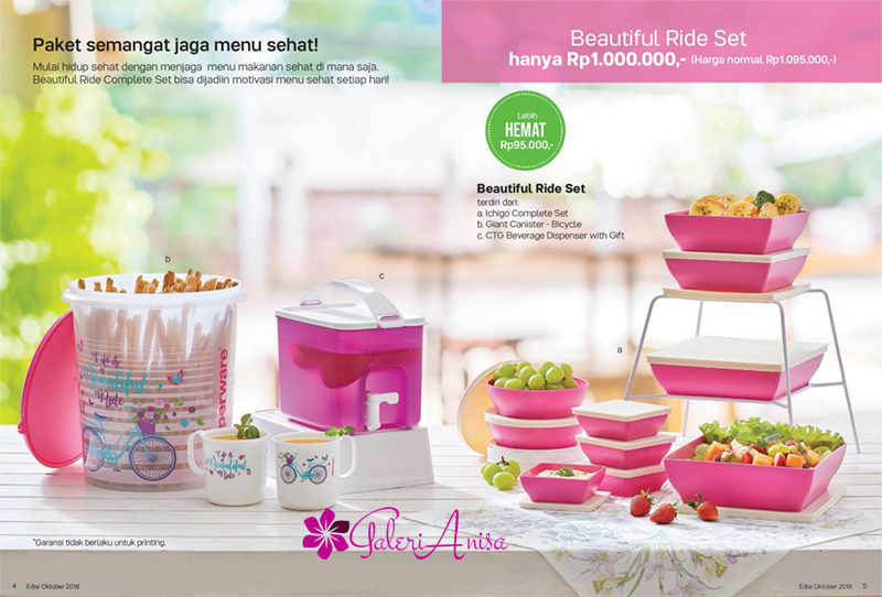 Beautiful Ride Set Tupperware