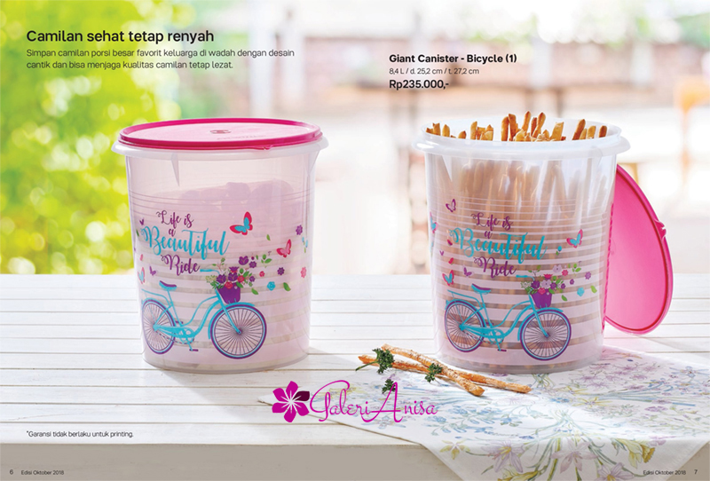 Giant Canister Bicycle Tupperware