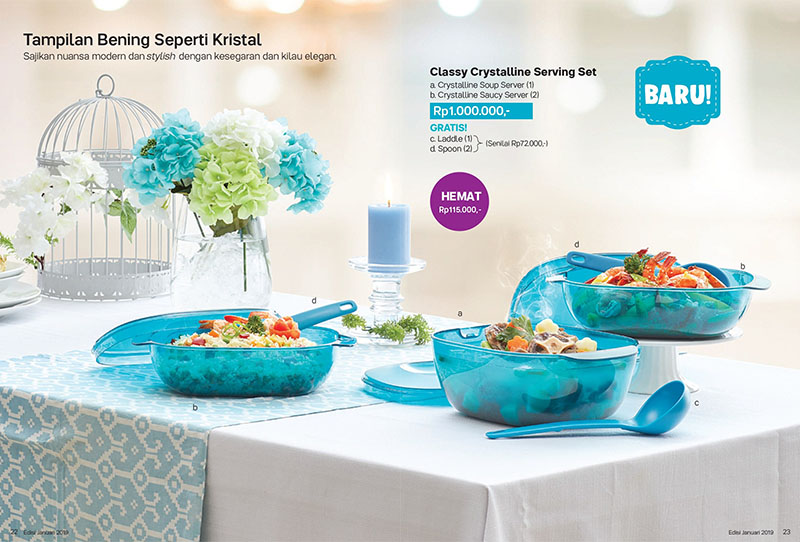 Classy Crystalline Serving Set Tupperware